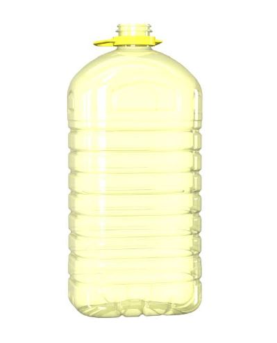 GARRAFA PET 5000ML M1 RECTANGULAR AMARILLA
